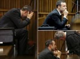 Oscar Pistorius breaks down in the dock as details of Steenkamp's autopsy are revealed