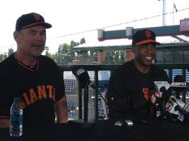 Barry Bonds back with Giants
