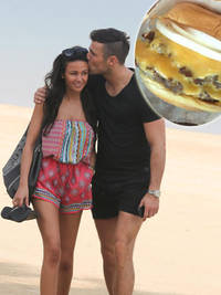 Michelle Keegan shuns bikini body diet after romantic Dubai beach walk with fiancé Mark Wright