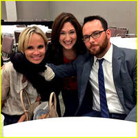 Kristin Chenoweth Vacations with Sam & Aaron Taylor-Johnson