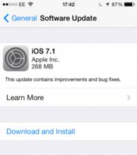 Apple releases iOS 7.1, fixes bugs, adds extra features